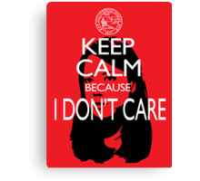 April Ludgate Doesn't Care Canvas Print