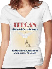 Protest Tee 7 Women's Fitted V-Neck T-Shirt