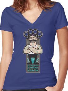 Victorian Fight Club Women's Fitted V-Neck T-Shirt