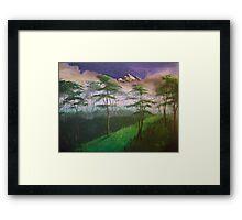 Landscape, mist Framed Print