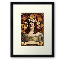 Art Nouveau Lady  Framed Print
