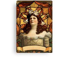 Art Nouveau Lady  Canvas Print