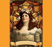 Art Nouveau Lady  Womens Fitted T-Shirt
