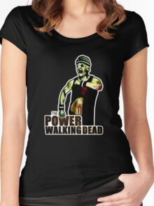 The Power Walking Dead (on Black) [ iPad / iPhone / iPod Case | Tshirt | Print ] Women's Fitted Scoop T-Shirt