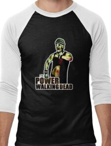 The Power Walking Dead (on Black) [ iPad / iPhone / iPod Case | Tshirt | Print ] Men's Baseball ¾ T-Shirt