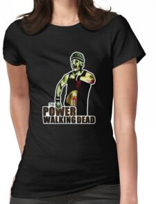The Power Walking Dead (on Black) [ iPad / iPhone / iPod Case | Tshirt | Print ] Womens Fitted T-Shirt