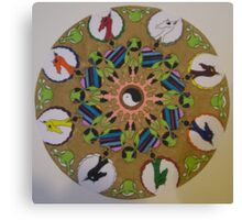 Dragon Mandala Wheel Canvas Print