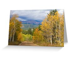 Rocky Mountain Scenic Autumn Drive Greeting Card