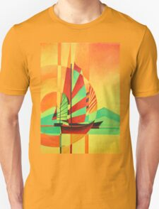 Chinese Junks Sail to Shore T-Shirt