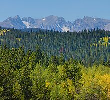 Colorado Rocky Mountain Continental Divide Autumn View by Bo Insogna