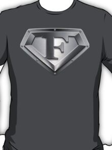 Steel Plated F Letter T-Shirt