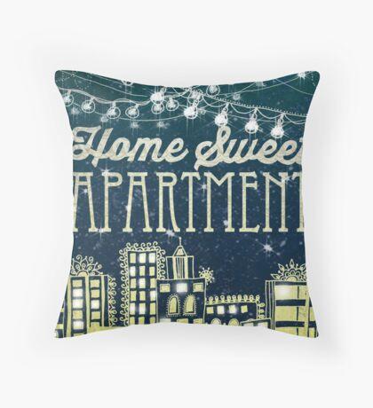 Home Sweet Apartment II  Throw Pillow