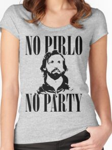 No Pirlo, No Party v2 Women's Fitted Scoop T-Shirt