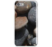 tumbling pebbles on a beach iPhone Case/Skin