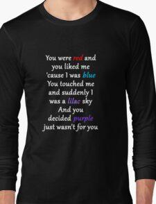 Halsey Colors Lyrics Long Sleeve T-Shirt