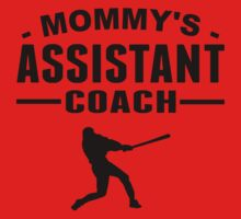 Mommy's Assistant Baseball Coach Kids Tee