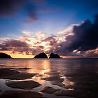 Holywell Bay Sunset by Jon Bradbury