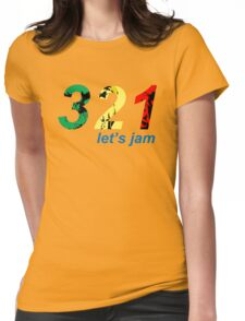 321...let's jam Womens Fitted T-Shirt