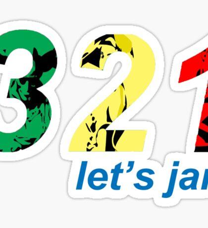 321...let's jam Sticker
