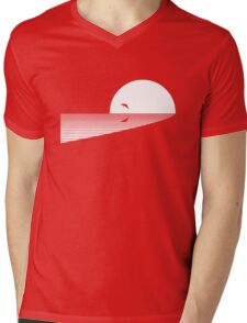 Leaping Dolphin Mens V-Neck T-Shirt