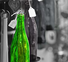 1 Green Bottle hanging on the wall by SteveHphotos