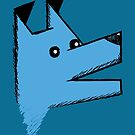 Origami Dog - blue by Silvia Neto