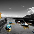 Lynmouth North Devon, selective colouring by SteveHphotos