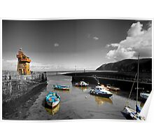 Lynmouth North Devon, selective colouring Poster