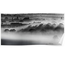 Drifting Morning Mist Poster