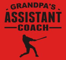 Grandpa's Assistant Baseball Coach Kids Tee