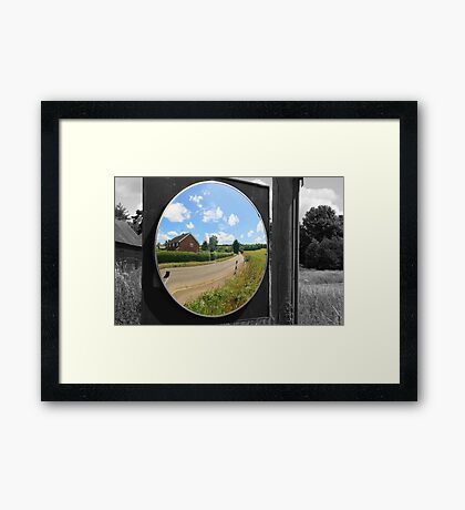 Magic Mirror with selective colouring Framed Print