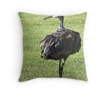 """""""Do These Feathers Make Me Look Fat ? """" Throw Pillow"""