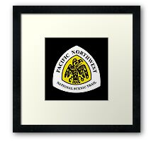 Pacific Northwest Trail Sign, USA Framed Print