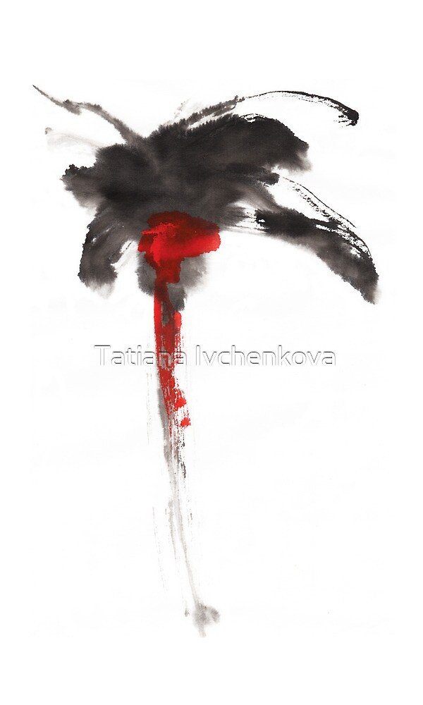 Black Flower by Tatiana Ivchenkova