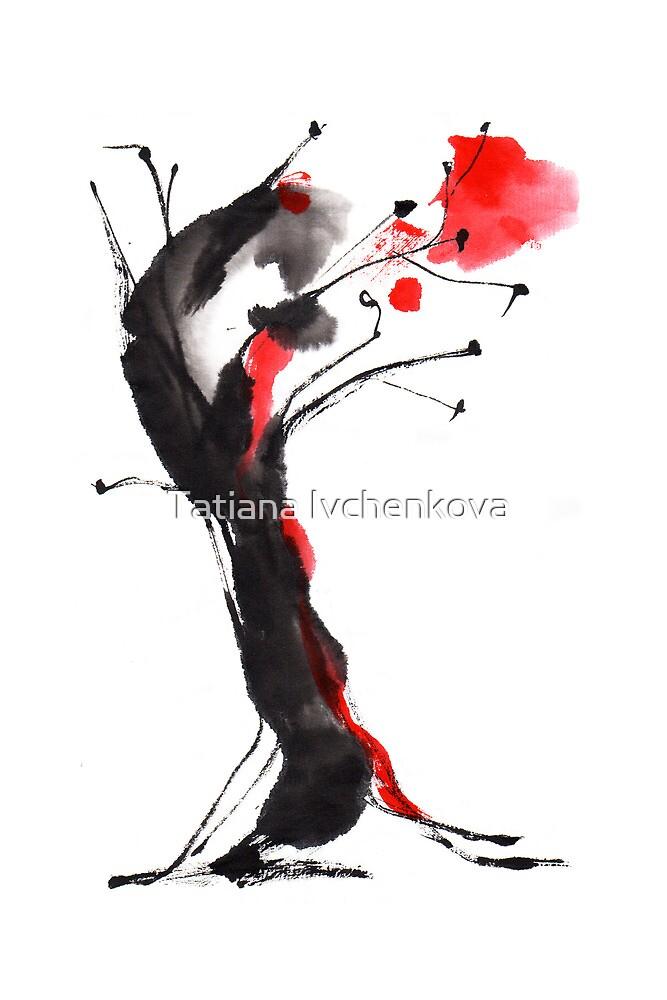 Burning Tree by Tatiana Ivchenkova