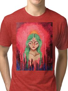 color burst lex Tri-blend T-Shirt
