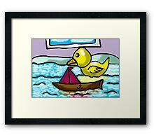 BATH TIME  FUN  Framed Print