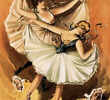 Vintage Ballerinas Illustration by Vintage Designs
