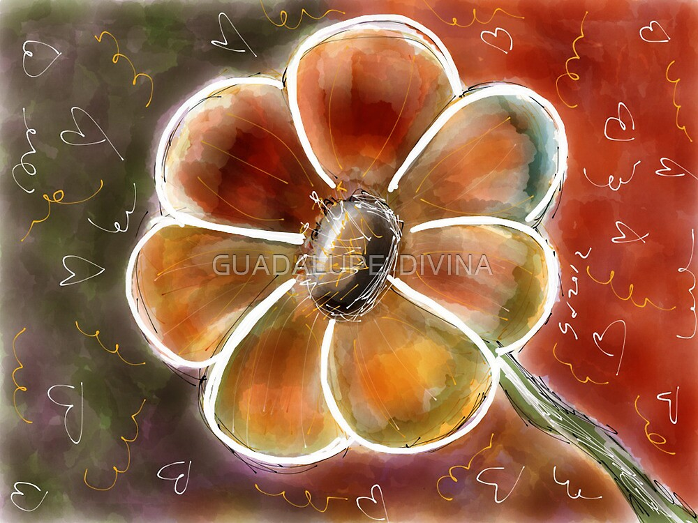 FLOWER FUN 6 by GUADALUPE  DIVINA