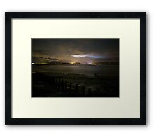 Looking across the Irish Sea to Harlech from Hafan Y Mor, Wales Framed Print