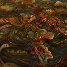 Water Lilies Disturbed by My Rowboat by Barbara Sparhawk