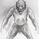 Snarling werewolf by mattycarpets