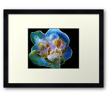 Kathie McCurdy Big Blue Abstract Flower Framed Print