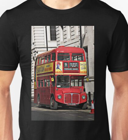 Vintage Red London Bus Unisex T-Shirt