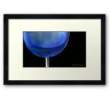 Kathie McCurdy Blue Wine Glass Chardonnay Framed Print