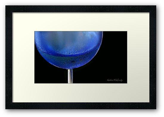 Kathie McCurdy Blue Wine Glass Chardonnay by Kathie McCurdy