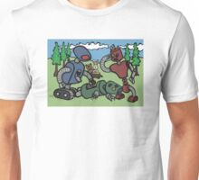 Teddy Bear And Bunny - Cannibals Unisex T-Shirt