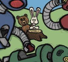 Teddy Bear And Bunny - Cannibals Sticker