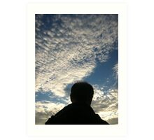 Man with Clouds on Friday Art Print