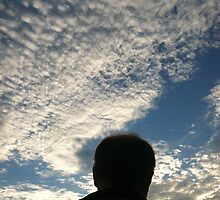 Man with Clouds on Friday by Julie Van Tosh Photography